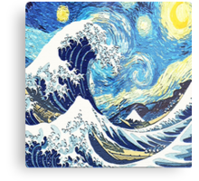 Starry Night Blue Art Painting Metal Print