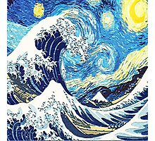 Starry Night Blue Art Painting Photographic Print