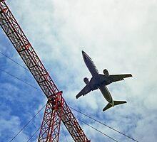 plane landing by jhorsager