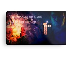 The Doctor and Rose Metal Print