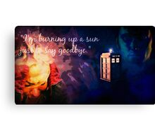 The Doctor and Rose Canvas Print