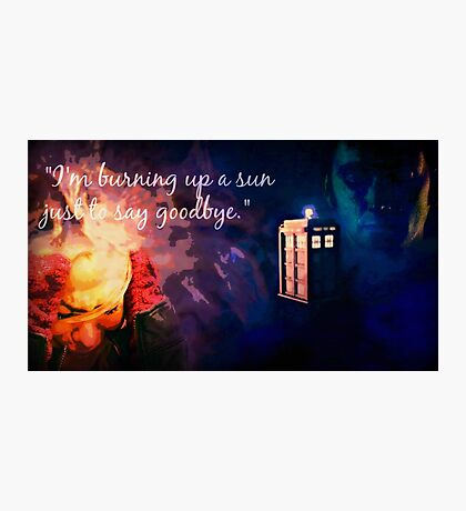 The Doctor and Rose Photographic Print