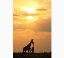 Giraffe Silhouette - Golden Beauty Unisex T-Shirt