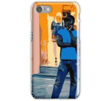Street Vendors at Night - Madrid iPhone Case/Skin
