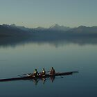 Twizel Rowers on Lake Pukaki by Robin Smith