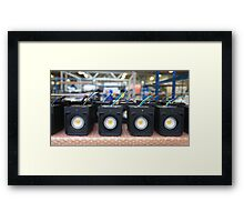 assembly of electronic equipment in manufacturing Framed Print