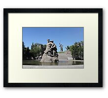 Monument to soldiers to the defenders  of Stalingrad Framed Print