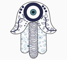 Evil Eye Hamsa by Marissa  Siegel