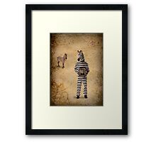 The man who fled to Africa Framed Print