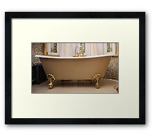 bathroom with old-fashioned bathtub Framed Print