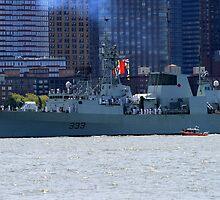 War ship on the Hudson ! by pmarella