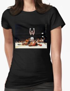 Super Punch Out Womens Fitted T-Shirt