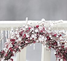 Iced Red Berry Wreath by Yannik Hay