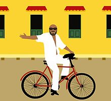 A man on a bicycle by Design4uStudio