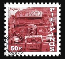 Jeepney Stamp T-Shirt