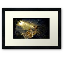 Dragon against man Framed Print