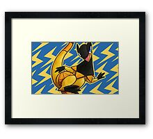REPTILE OF THE SUN Framed Print