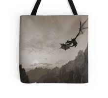 Skyrim dragon fly Tote Bag