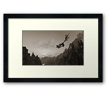 Skyrim dragon fly Framed Print