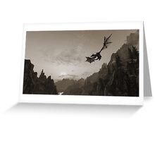 Skyrim dragon fly Greeting Card