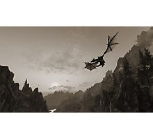 Skyrim dragon fly Photographic Print