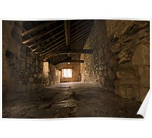 Gallery at Valle Crucis Abbey Poster