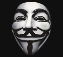 anonymous mask (V for Vendetta)  by LamericaTees