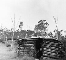 Mud & Sleeper Hut, Trunkey Creek, NSW. by C J Lewis