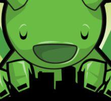 Big Fat Robot eats Melbourne - green Sticker