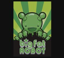 Big Fat Robot eats Melbourne - green with logo by BigFatRobot