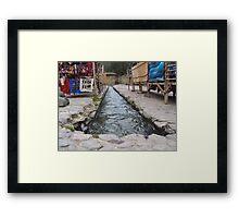 Incan Irrigation Framed Print