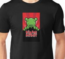 Big Fat Robot eats Melbourne - red with logo Unisex T-Shirt
