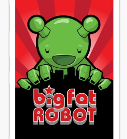 Big Fat Robot eats Melbourne - red with logo Sticker