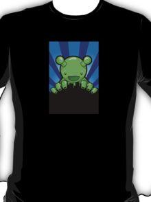 Big Fat Robot eats Melbourne - blue T-Shirt