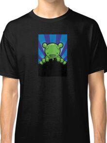 Big Fat Robot eats Melbourne - blue Classic T-Shirt