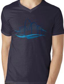 new wave Mens V-Neck T-Shirt