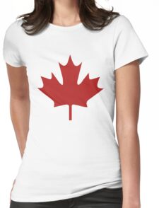 Canada Red Maple Leaf Womens Fitted T-Shirt