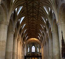 Tewkesbury Abbey - Nave and Ceiling by Martin Carr