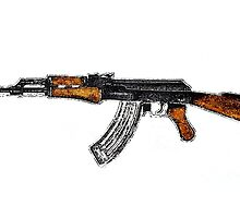 AK-47 Weapon illustration (edited) by Mauriciobecker