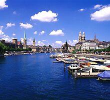 lake at Zurich, Switzerland by chord0