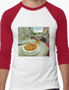 Seafood Pasta  Men's Baseball ¾ T-Shirt