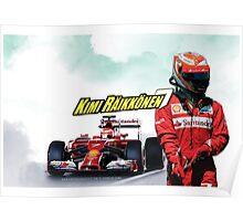 Kimi Raikkonen - 7 - Ferrari Poster