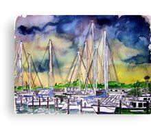 Melbourne Florida Boat Marina Canvas Print