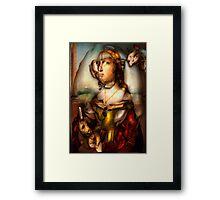 Ghost Portrait Nr. 1 - Woman with Unicorn Framed Print