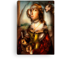 Ghost Portrait Nr. 1 - Woman with Unicorn Canvas Print