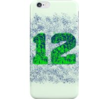 Abstract Team Spirit - Blue On Green iPhone Case/Skin