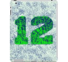 Abstract Team Spirit - Blue On Green iPad Case/Skin