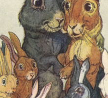 Easter Bunny Family Portrait Sticker