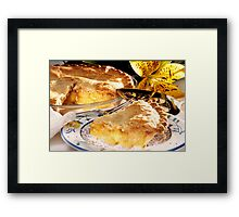 Apple Pie Dessert  Framed Print