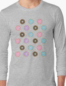 Doughnuts - Blue Long Sleeve T-Shirt